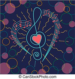background of musical treble clef