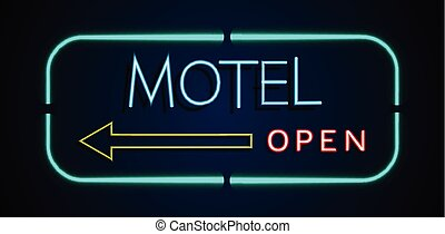 Background of neon signs