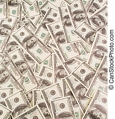 Background of notes on one hundred dollars