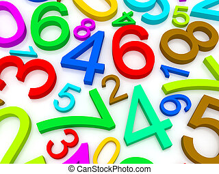 Background of numbers