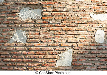 background of old brick wall