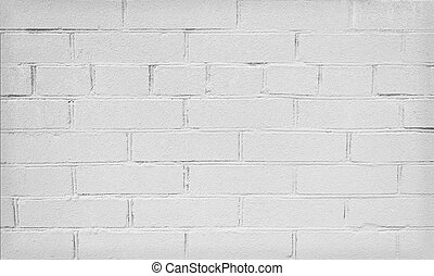 Background of old empty white brick wall
