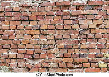 background of old red brick wall