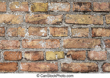 background of old rotten brick wall