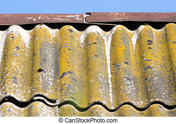 background of old slate roof