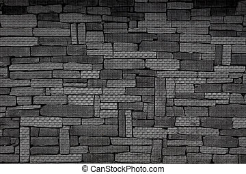 Background of old stone walls of the small blocks