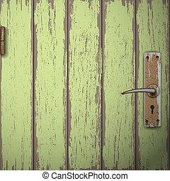 Background of old wooden door. Vector illustration