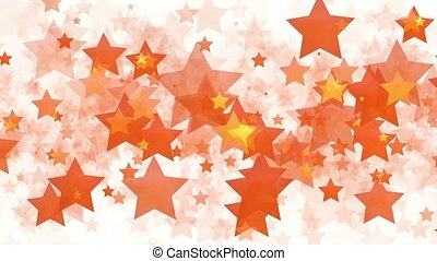 Background of orange and yellow moving stars