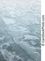Background of pack ice floe in the sea