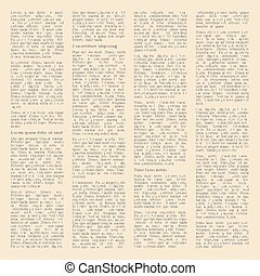 Background Of Pages Vintage Newspapers Vector Illustration