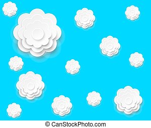 Background of paper abstract flowers