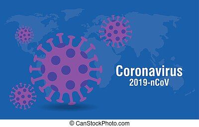 background of particles 2019 ncov coronavirus