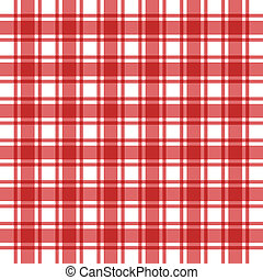 Background of pattern as red plaid - An illustrative close...