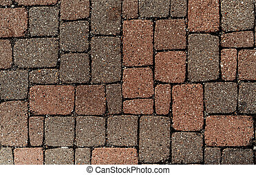 Background of pavement with old and color bricks