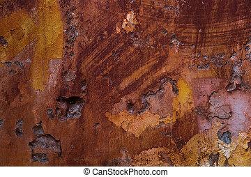 Background of peeling paint - Old paint texture peeling off...