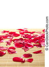Background of petals - Beautiful red rose petals scattered...