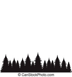 Background of pine trees graphic design template