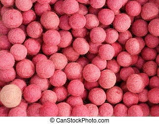 background of pink felt balls - background of many pink felt...