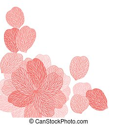 Background of pink flower petals. Vector illustranion
