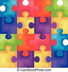 background of puzzle pieces icons
