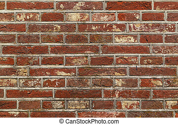 Background of red brick wall.