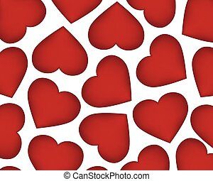 Background of red hearts on the day of the holiday Valentine's