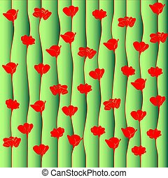 Background of red poppy flowers.