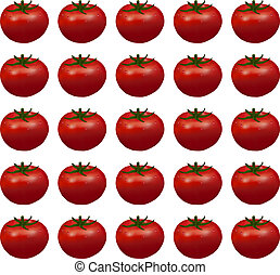 background of red ripe tomatoes