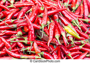 Background of ripe red chili peppers