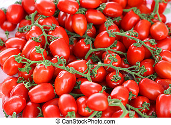 background of ripe red tomatoes just harvested