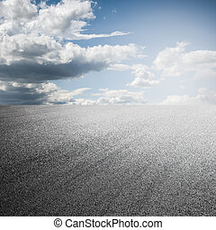 background of road with sky