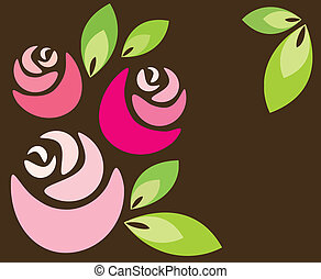 background of roses