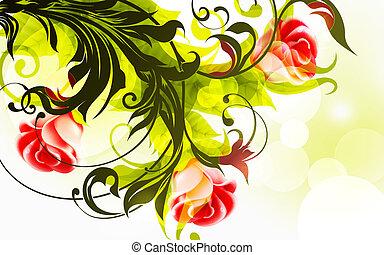 Background of roses, eps10