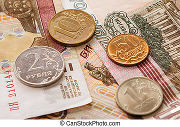 Background of russian rubles