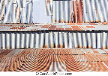 background of rusty galvanized iron