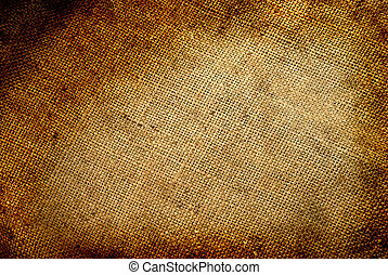 Background old sack by a large plan