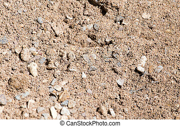 background of sand and gravel