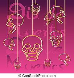 background of skulls