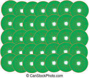 Background of slices of kiwi fruit.