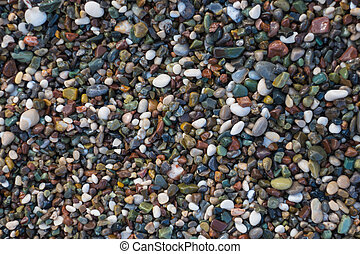 Background of small pebbles