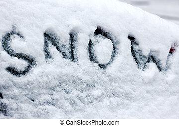 background of snow .