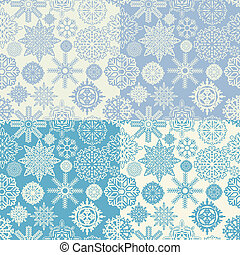 Background of snowflakes seamless - The vector image of Set...