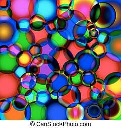 Background of soap bubbles.