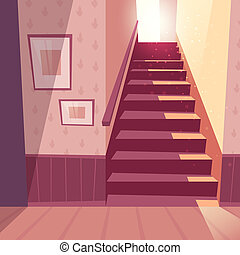 background of staircase, stairs in house