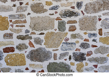 Background of stone with plaster wall pattern texture . Close up