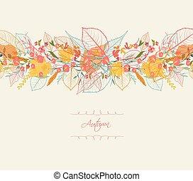 Background of stylized autumn