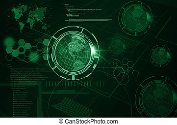 Background of Technology with earth globe