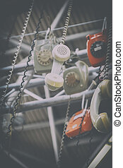 background of telephones