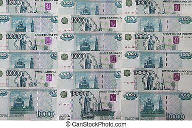 Background of the banknotes Rossisk