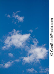 background of the blue sky with clouds